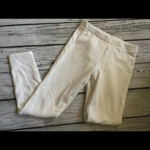 Gymboree White Velour Leggings Size 12 Girls